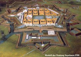 Modell der Festung Saarlouis 1726